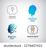 vector set of creative group ... | Shutterstock .eps vector #1276607422
