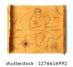 pirate treasure map isolated | Shutterstock . vector #1276616992