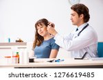 patient with hearing problem...   Shutterstock . vector #1276619485