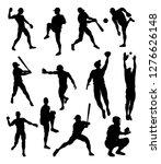 baseball player detailed... | Shutterstock .eps vector #1276626148