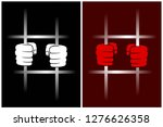 abstract windows with prison... | Shutterstock . vector #1276626358