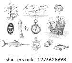 set of vector hand drawn...   Shutterstock .eps vector #1276628698