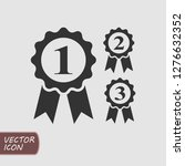 award ribbons flat icons set.... | Shutterstock .eps vector #1276632352