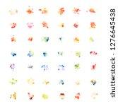 multiple watercolor paint drop... | Shutterstock . vector #1276645438