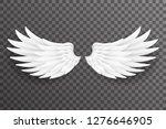 white bird angel fly wings... | Shutterstock .eps vector #1276646905