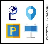 4 continent icon. vector...   Shutterstock .eps vector #1276653028
