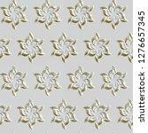3d seamless gold pattern on... | Shutterstock . vector #1276657345
