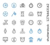 stopwatch icons set. collection ... | Shutterstock .eps vector #1276663162