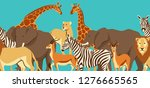 seamless pattern with african... | Shutterstock .eps vector #1276665565