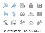 hazard icons set. collection of ... | Shutterstock .eps vector #1276666828