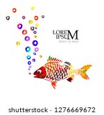 colorful beautiful fish. vector | Shutterstock .eps vector #1276669672