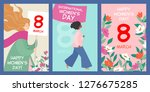 set of postcards to the... | Shutterstock .eps vector #1276675285