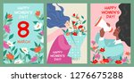 set of vector postcards to the... | Shutterstock .eps vector #1276675288