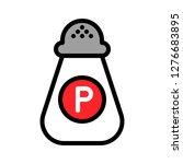pepper shaker vector  barbecue... | Shutterstock .eps vector #1276683895
