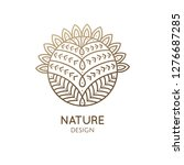 blossoming cactus logo. vector... | Shutterstock .eps vector #1276687285