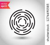 fingerprint icon. scan icon.... | Shutterstock .eps vector #1276690585