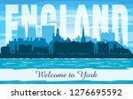 york united kingdom city...   Shutterstock .eps vector #1276695592