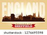 sheffield united kingdom city...   Shutterstock .eps vector #1276695598