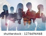 silhouettes of business people... | Shutterstock . vector #1276696468