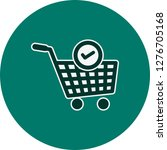 vector verified cart items icon  | Shutterstock .eps vector #1276705168