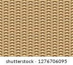 seamless 3d brown rattan... | Shutterstock .eps vector #1276706095