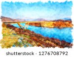 watercolor painting of kylesku... | Shutterstock . vector #1276708792