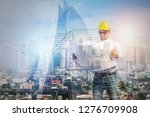 construction concept  exposure... | Shutterstock . vector #1276709908