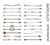 collection of vector dividers....   Shutterstock .eps vector #1276710298
