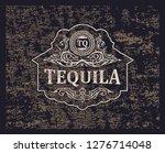 vector retro grunge logo. icon... | Shutterstock .eps vector #1276714048