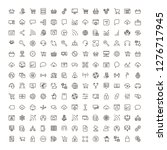 seo icon set. collection of... | Shutterstock .eps vector #1276717945