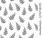 hand drawn fern leaves. vector... | Shutterstock .eps vector #1276718155