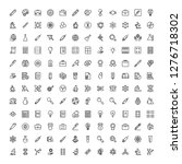science icon set. collection of ... | Shutterstock .eps vector #1276718302