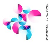 geometric magenta and bright... | Shutterstock .eps vector #1276719988