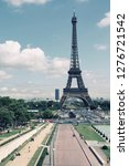 paris  france   cityscape with... | Shutterstock . vector #1276721542