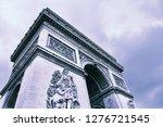 paris  france   famous... | Shutterstock . vector #1276721545