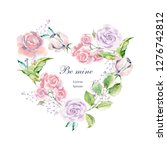 set of hand painted watercolor... | Shutterstock . vector #1276742812