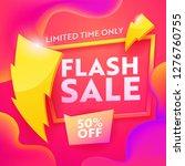 flash sale advertising modern... | Shutterstock .eps vector #1276760755