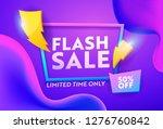 flash sale purple gradient...   Shutterstock .eps vector #1276760842