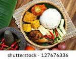 A Plates Of Delicious 'ayam...