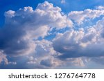 blue sky with white clouds. | Shutterstock . vector #1276764778