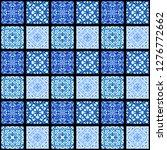 abstract pattern. mosaic art... | Shutterstock . vector #1276772662