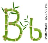 bamboo letter b with young... | Shutterstock .eps vector #1276773148