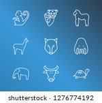 fauna icon set and turtle with... | Shutterstock . vector #1276774192