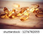 close up vitamin d and omega 3... | Shutterstock . vector #1276782055