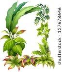 illustration of leafy plants on ... | Shutterstock .eps vector #127678646