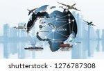 transportation  import export ... | Shutterstock . vector #1276787308