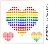 heart icon vector background... | Shutterstock .eps vector #1276791148