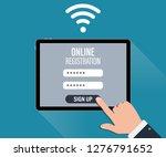 online register page....