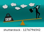 businessman is balancing with... | Shutterstock . vector #1276796542
