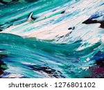 ocean waves .motion  painting... | Shutterstock . vector #1276801102